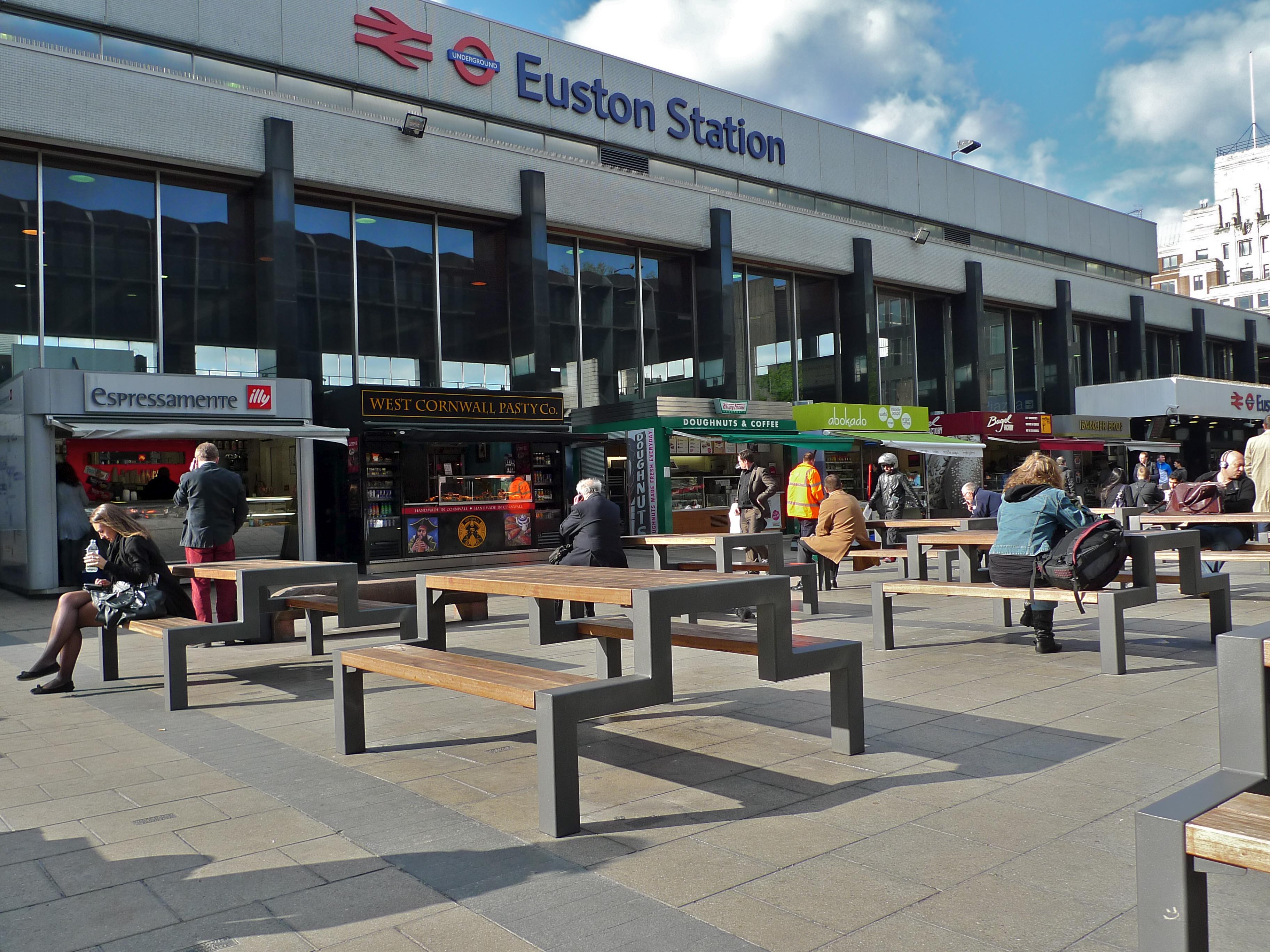 London Euston Food Places