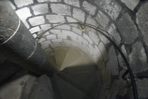 Stairs into the catacombs