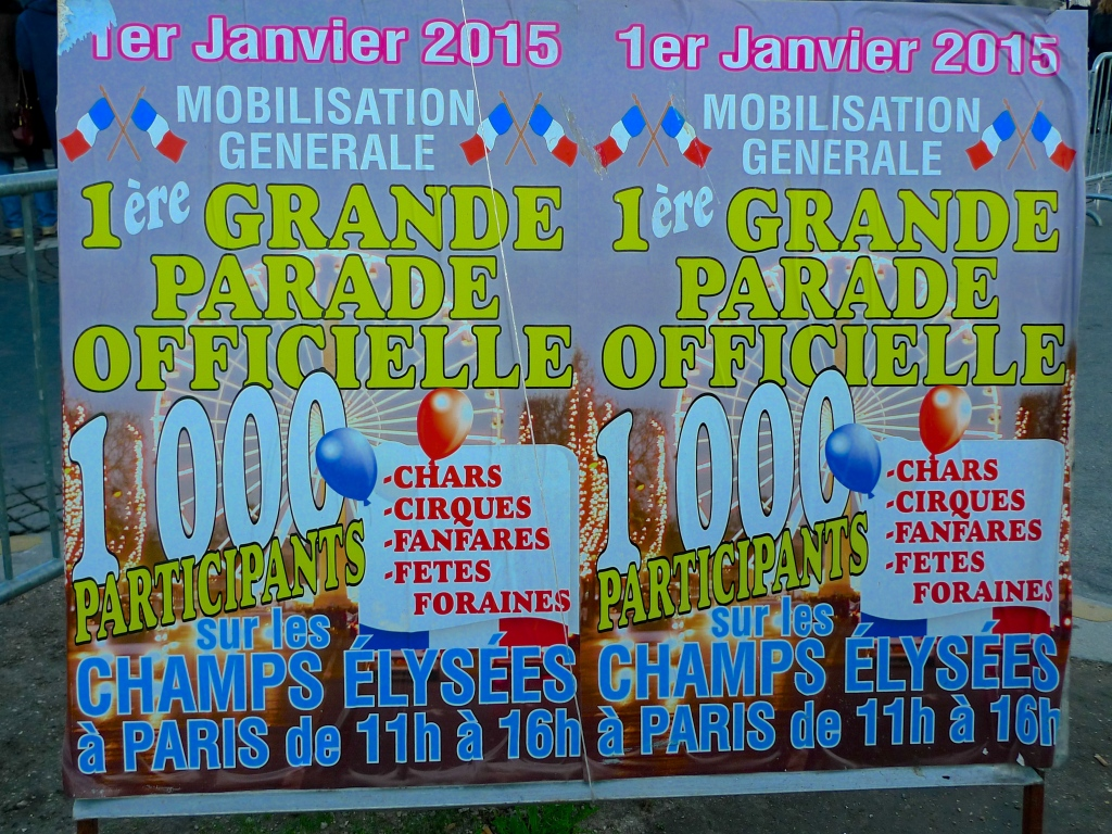 Champs Elysées - New Year's Day Parade