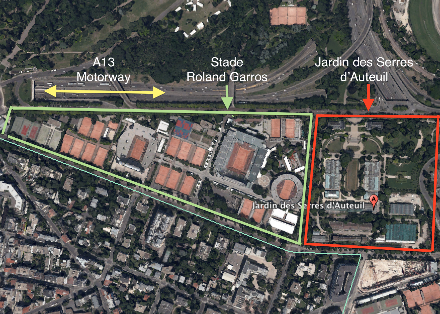 Roland Garros Location In Paris Map.Would Inevitably Change As A Result Well This Is