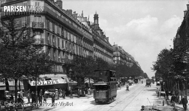Boulevard Barbès. Paris (XVIIIth arrondissement), circa 1900.